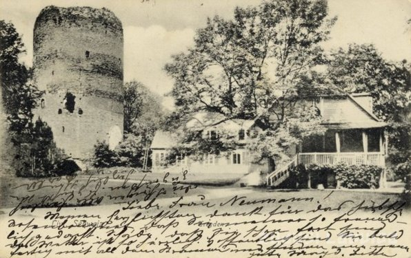 Postcard depicting Turaida Castle, Latvia
